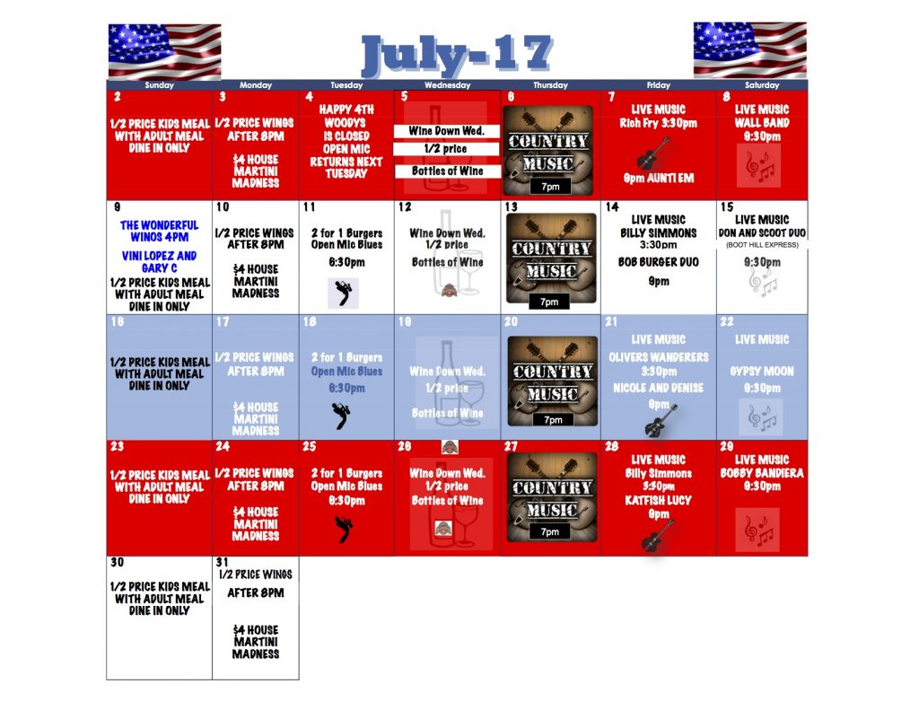 JULY 2017 EVENTS